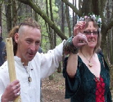 Caz and Dave's handfasting