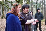 Rowan and Alex's handfasting