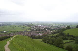 Glastobury from the tor